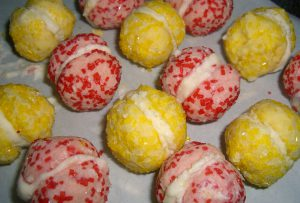 sparkling lemon snowballs